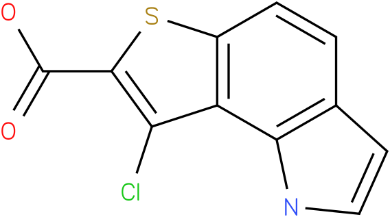 8-chloro-1H-thieno[2,3-g]indole-7-carboxylic acid