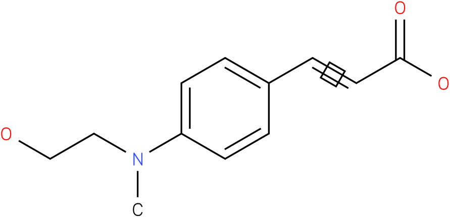 (E)-3-(4-(N-(2-hydroxyethyl)-N-methylamino)phenyl)acrylic acid