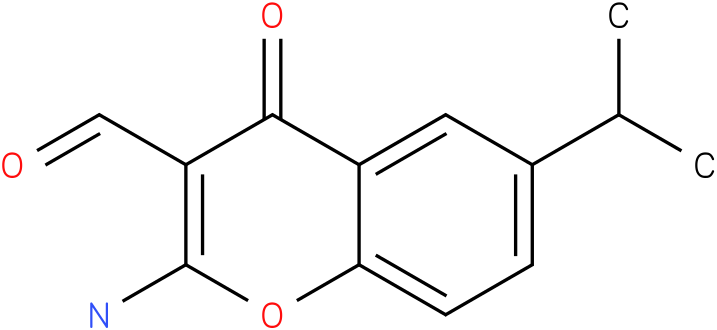 2-Amino-6-(1-methylethyl)-4-oxo-4H-1-benzopyran-3-carboxaldehyde