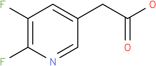 (5,6-Difluoropyridin-3-yl)acetic acid