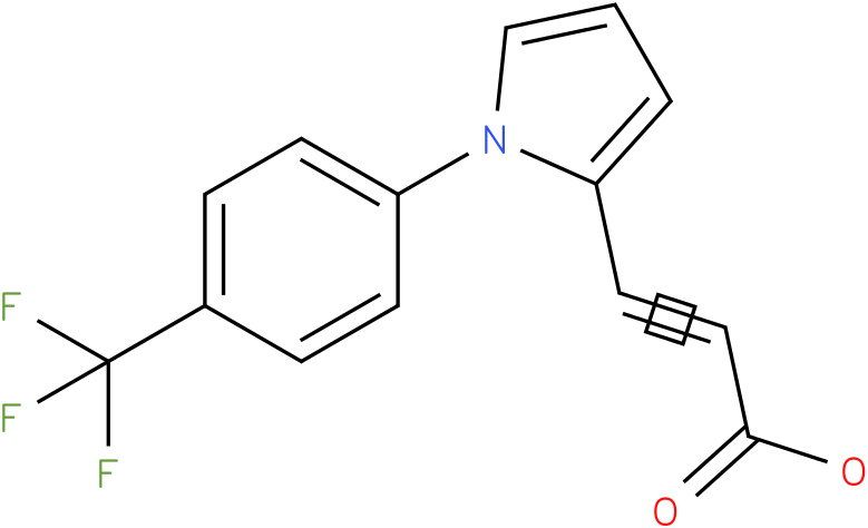 (E)-3-(1-(4-(trifluoromethyl)phenyl)-1H-pyrrol-2-yl)acrylic acid