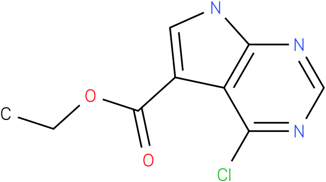 ethyl 4-chloro-7H-pyrrolo[2,3-d]pyrimidine-5-carboxylate