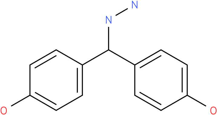 1-(bis(4-hydroxyphenyl)methyl)hydrazine