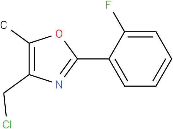 4-Chloromethyl-2-(2-fluoro-phenyl)-5-methyl-oxazole