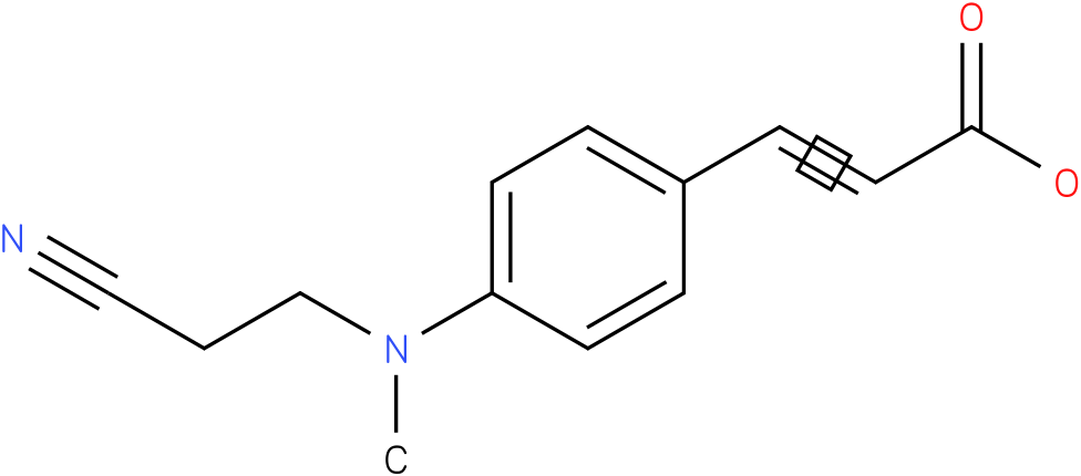 (E)-3-(4-(N-(2-cyanoethyl)-N-methylamino)phenyl)acrylic acid