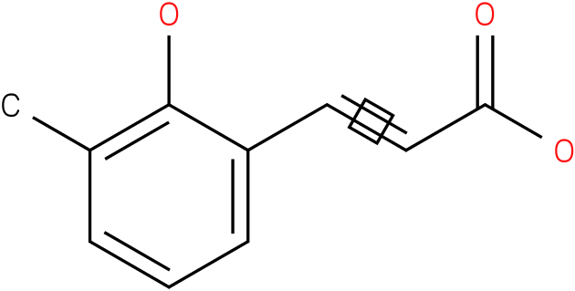 (E)-3-(2-hydroxy-3-methylphenyl)acrylic acid