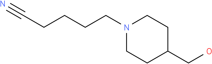 5-(4-(hydroxymethyl)piperidin-1-yl)pentanenitrile
