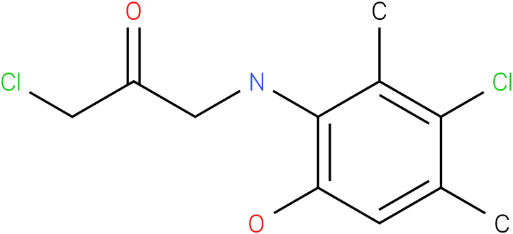 1-chloro-3-((3-chloro-6-hydroxy-2,4-dimethylphenyl)amino)propan-2-one