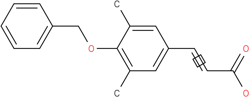 3-(4-(benzyloxy)-3,5-dimethylphenyl)acrylic acid