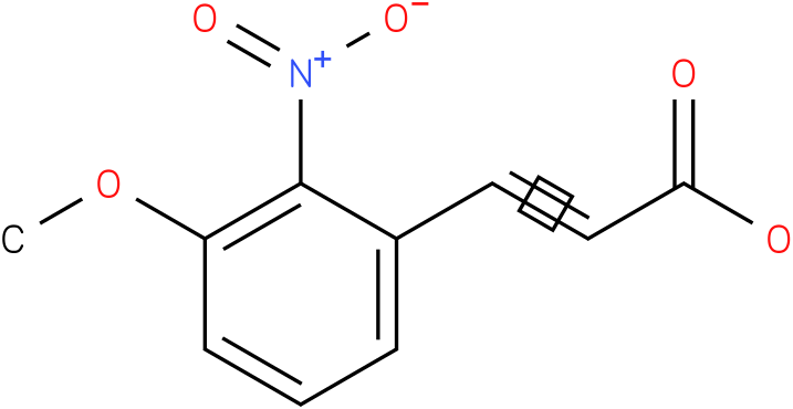 (E)-3-(3-methoxy-2-nitrophenyl)acrylic acid