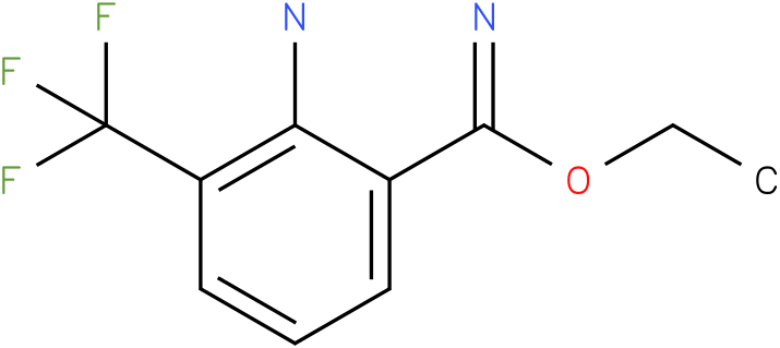 ethyl 2-amino-3-(trifluoromethyl)benzoimidate