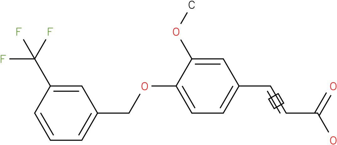 (E)-3-(4-(3-(trifluoromethyl)benzyloxy)-3-methoxyphenyl)acrylic acid