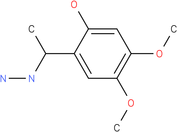 1-(1-(2-hydroxy-4,5-dimethoxyphenyl)ethyl)hydrazine
