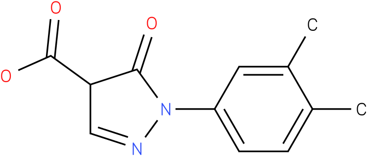 1-(3,4-dimethylphenyl)-5-oxo-4,5-dihydro-1H-pyrazole-4-carboxylic acid
