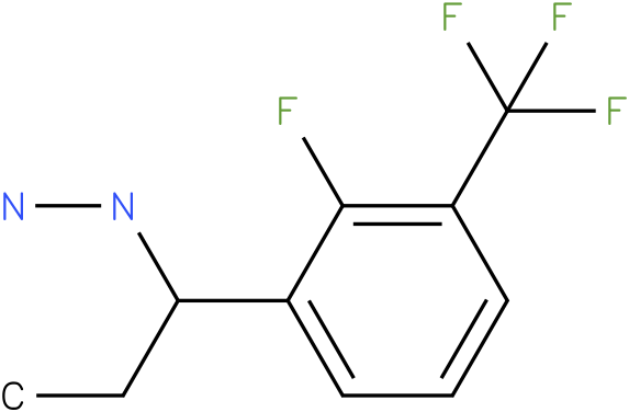 1-(1-(2-fluoro-3-(trifluoromethyl)phenyl)propyl)hydrazine