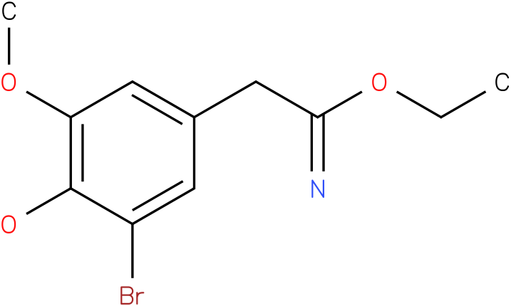 ethyl 2-(3-bromo-4-hydroxy-5-methoxyphenyl)acetimidate