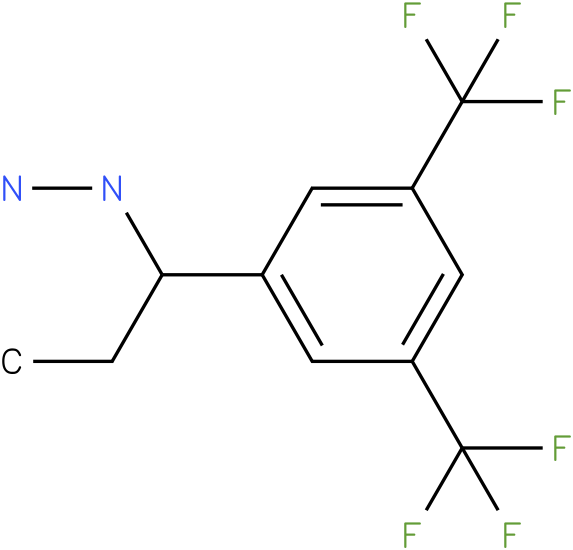 1-(1-(3,5-bis(trifluoromethyl)phenyl)propyl)hydrazine