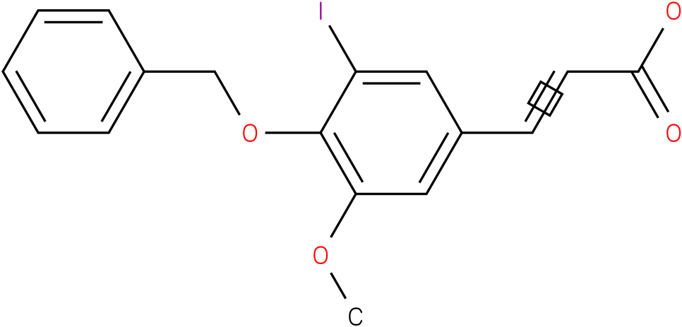 (E)-3-(4-(benzyloxy)-3-iodo-5-methoxyphenyl)acrylic acid
