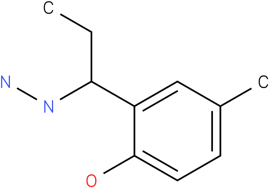1-(1-(2-hydroxy-5-methylphenyl)propyl)hydrazine