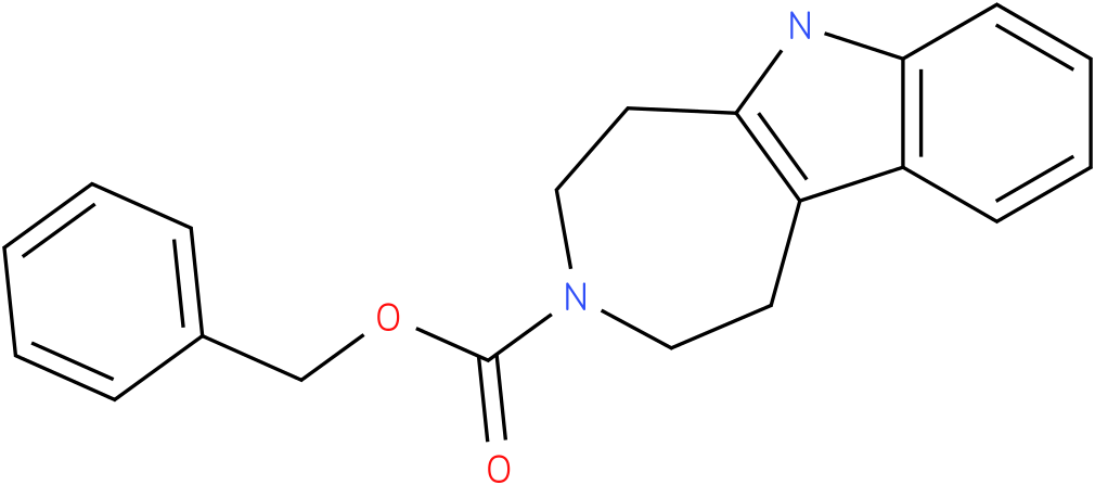 benzyl 1,2,4,5-tetrahydroazepino[4,5-b]indole-3(6H)-carboxylate
