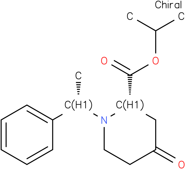 (S)-tert-butyl 4-oxo-1-((S)-1-phenylethyl)piperidine-2-carboxylate