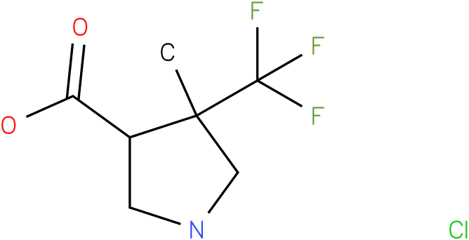 4-Methyl-4-trifluoromethyl-pyrrolidine-3-carboxylic acid hydrochloride
