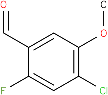 4-Chloro-2-fluoro-5-methoxy benzaldehyde