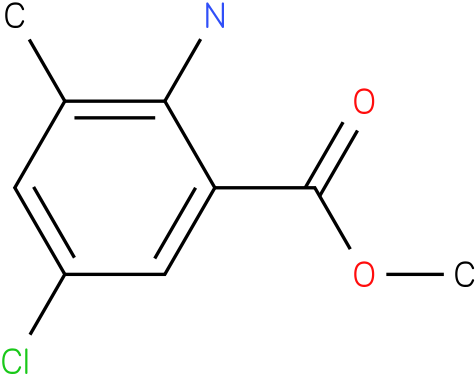methyl 2-amino-5-chloro-3-methylbenzoate