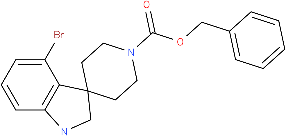 benzyl 4-bromospiro[indoline-3,4'-piperidine]-1'-carboxylate