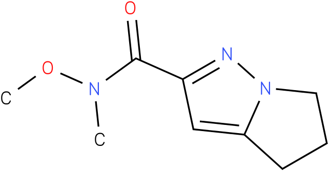 N-methoxy-N-methyl-5,6-dihydro-4H-pyrrolo[1,2-b]pyrazole-2-carboxamide