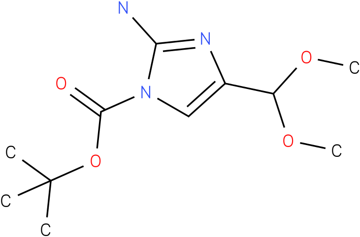 tert-butyl 2-amino-4-(dimethoxymethyl)-1H-imidazole-1-carboxylate