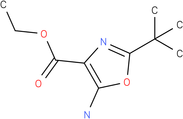 ethyl 5-amino-2-tert-butyloxazole-4-carboxylate