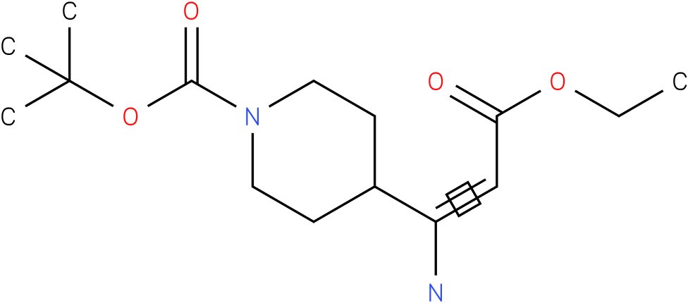 (E)-TERT-BUTYL 4-(1-AMINO-3-ETHOXY-3-OXOPROP-1-ENYL)PIPERIDINE-1-CARBOXYLATE