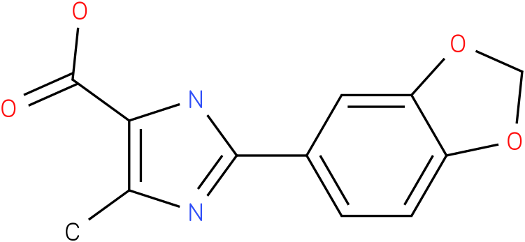 2-BENZO[1,3]DIOXOL-5-YL-5-METHYL-3H-IMIDAZOLE-4-CARBOXYLIC ACID