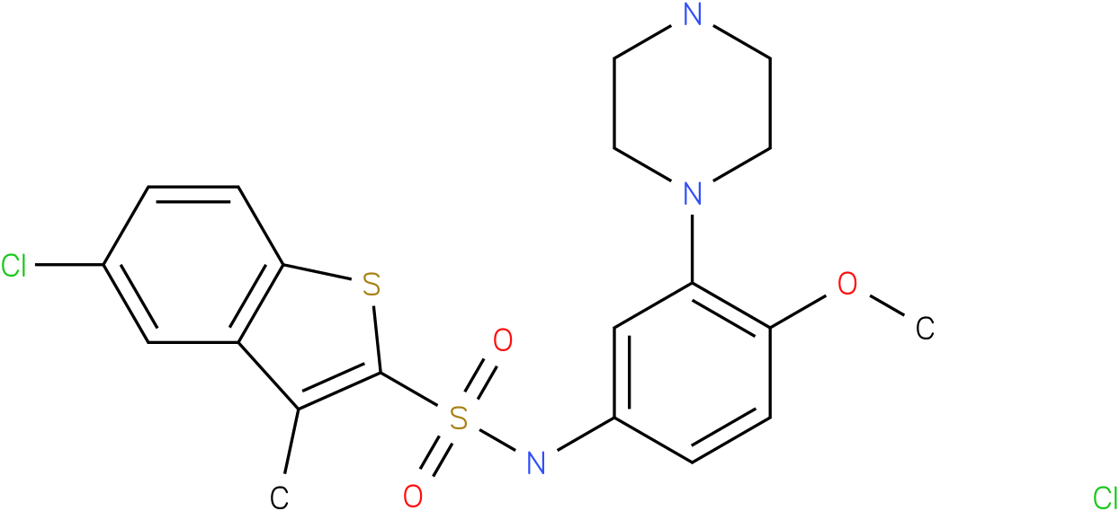 5-Chloro-3-Methyl-Benzo[b]Thiophene-2-Carboxylic Acid (4-Methoxy-3-Piperazin-1-yl-Phenyl)-Amide Hydrochloride