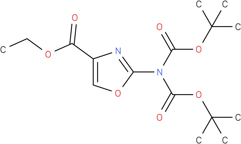 ethyl 2-(bis(tert-butoxycarbonyl)amino)oxazole-4-carboxylate