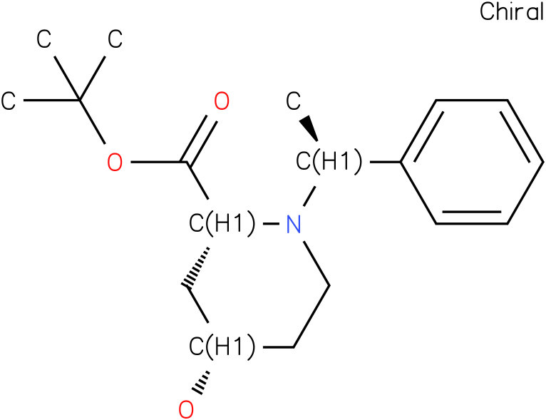 (2R,4S)-tert-butyl 4-hydroxy-1-((S)-1-phenylethyl)piperidine-2-carboxylate