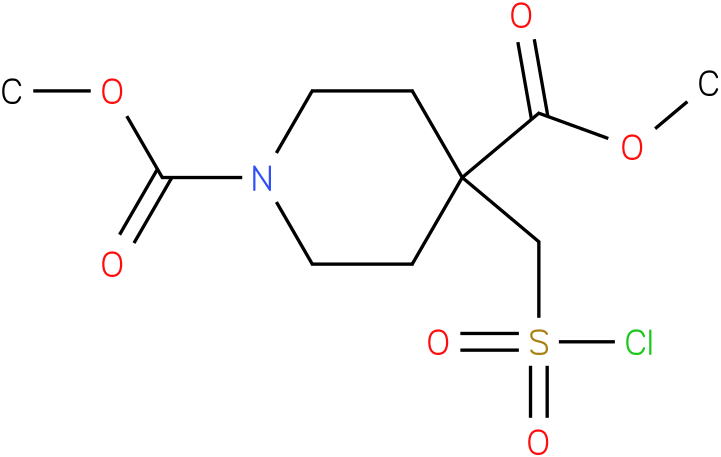 dimethyl 4-(chlorosulfonylmethyl)piperidine-1,4-dicarboxylate