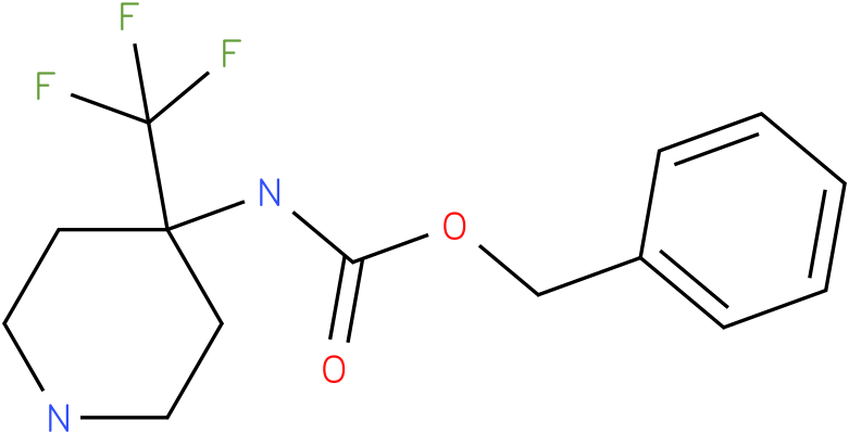 (4-Trifluoromethyl-piperidin-4-yl)-carbamic acid benzyl ester