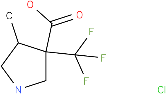 4-Methyl-3-trifluoromethyl-pyrrolidine-3-carboxylic acid hydrochloride