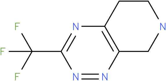 3-Trifluoromethyl-5,6,7,8-tetrahydro-pyrido[4,3-e][1,2,4]triazine