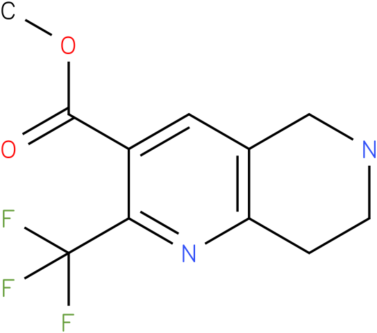 2-Trifluoromethyl-5,6,7,8-tetrahydro-[1,6]naphthyridine-3-carboxylic acid methyl ester