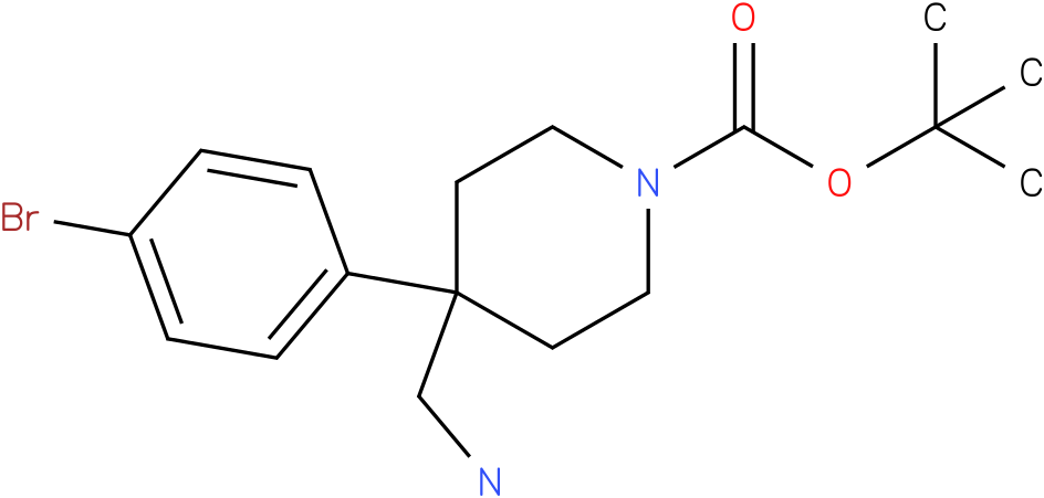 4-Aminomethyl-4-(4-bromo-phenyl)-piperidine-1-carboxylic acid tert-butyl ester