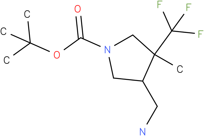 4-Aminomethyl-3-methyl-3-trifluoromethyl-pyrrolidine-1-carboxylic acid tert-butyl ester