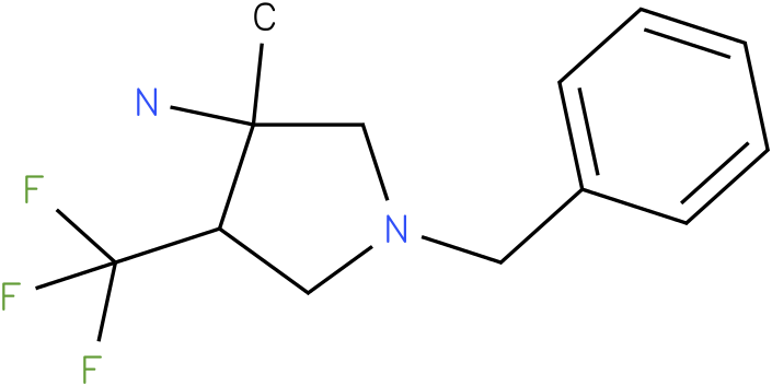 1-Benzyl-3-methyl-4-trifluoromethyl-pyrrolidin-3-ylamine