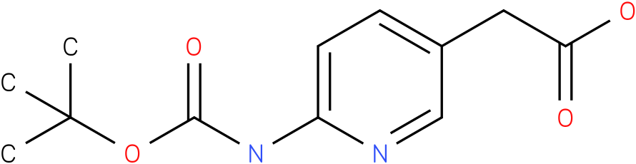 (6-tert-Butoxycarbonylamino-pyridin-3-yl)-acetic acid