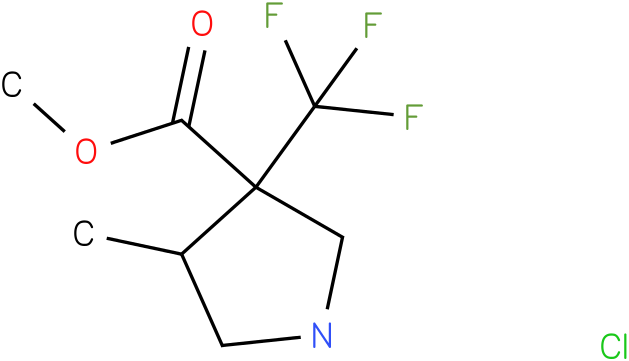 4-Methyl-3-trifluoromethyl-pyrrolidine-3-carboxylic acid methyl ester hydrochloride