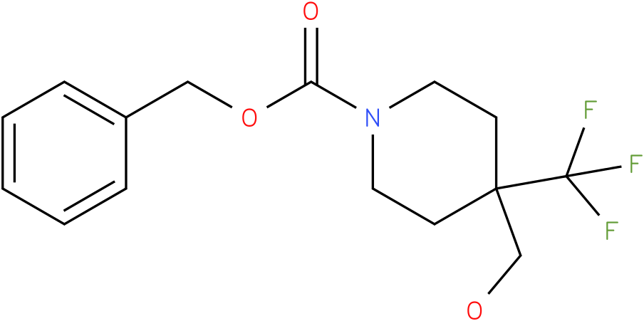 4-Hydroxymethyl-4-trifluoromethyl-piperidine-1-carboxylic acid benzyl ester