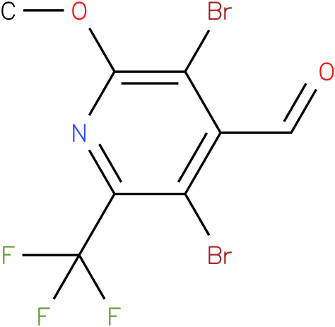 3,5-Dibromo-2-methoxy-6-trifluoromethyl-pyridine-4-carbaldehyde