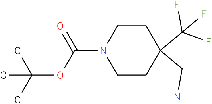 4-Aminomethyl-4-trifluoromethyl-piperidine-1-carboxylic acid tert-butyl ester